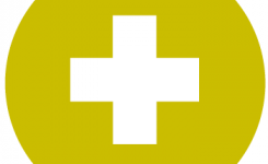 logo leerboeken grammatica taalpunt geel met wit kruis