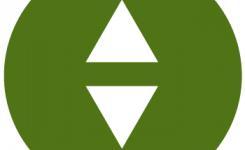 taalpunt icoon leesboeken groen met 2 driehoeken