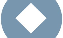 logo luisterboeken taalpunt grijs met witte ruit