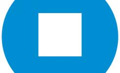 logo boeken over spreken taalpunt blauwe achtergrond wit vierkant