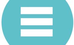logo taalpunt cursussen half gevorderden blauw 3 horizontale strepen