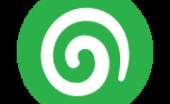 logo docentenmateriaal taalpunt groen met witte swirl