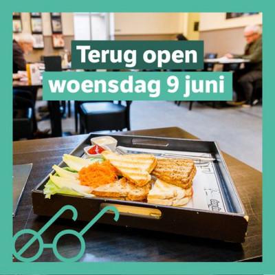 Leescafé weer open 9 juni